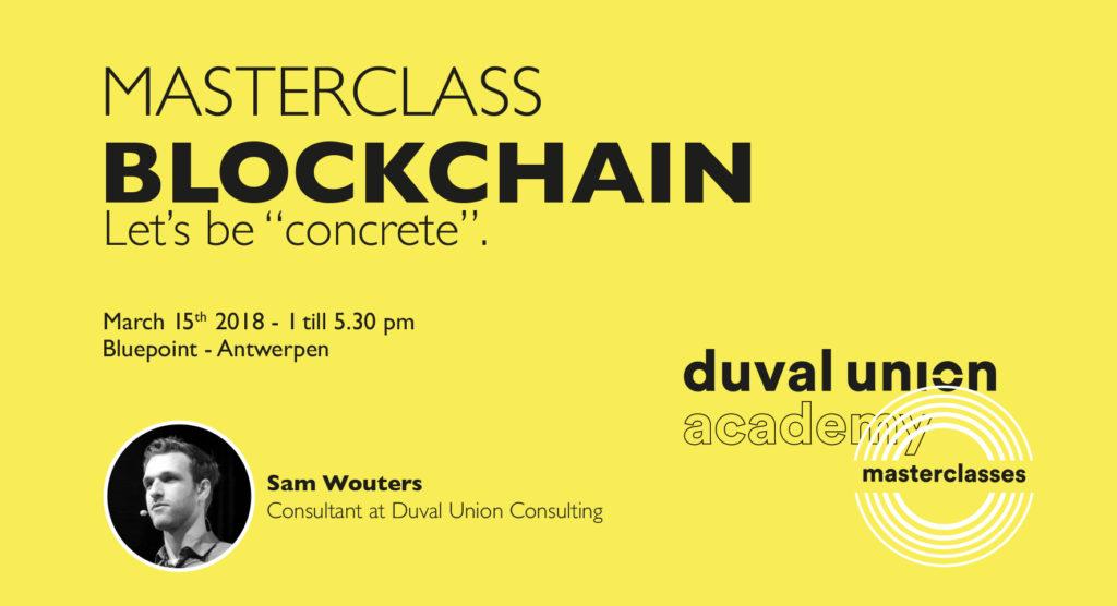 Masterclass Blockchain - Duval Union Academy