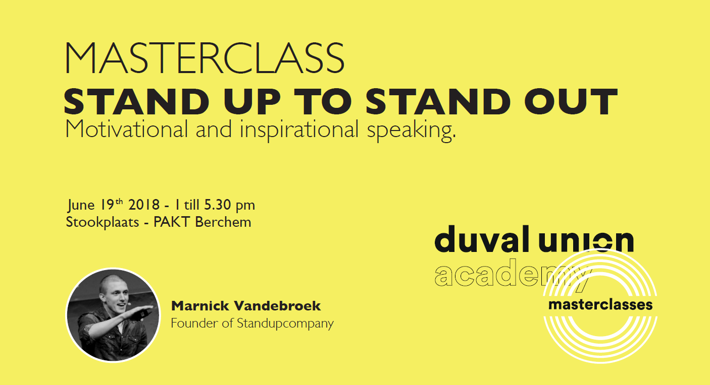 Masterclass Stand up to stand out - Duval Union Academy